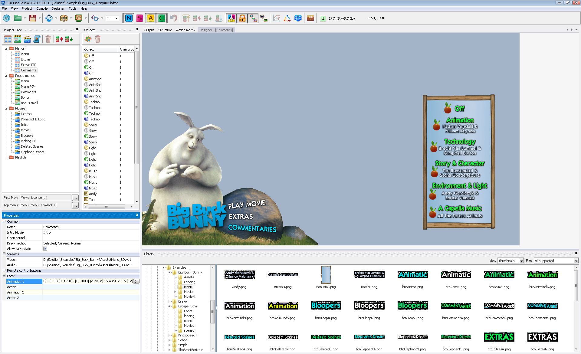 Blu-Disc Studio → Professional Blu-Ray authoring software
